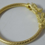 Mahamongkol-Thai-Talisman-Metal-Gold-Plate-Bracelet-Bangle-Dragon-0