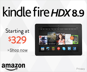 Black Friday Cyber Monday Sale on Kindle Fire HDX 8.9
