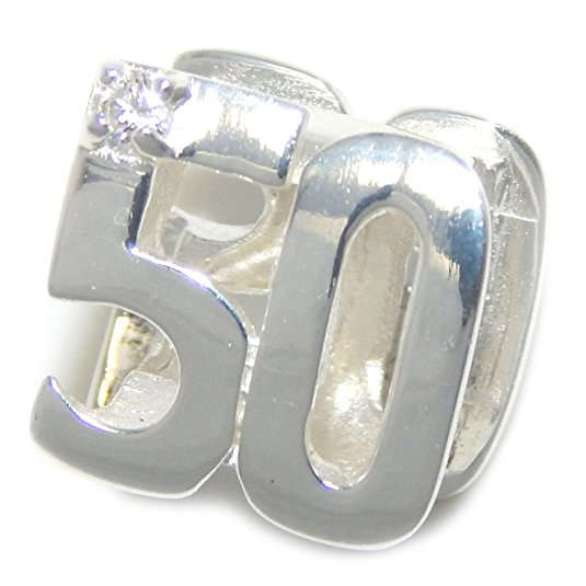 Pandora 50th Birthday Charm