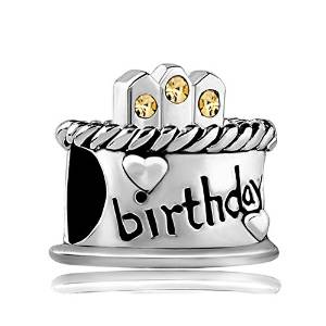 Pandora Birthday Cake Yellow Stones Charm