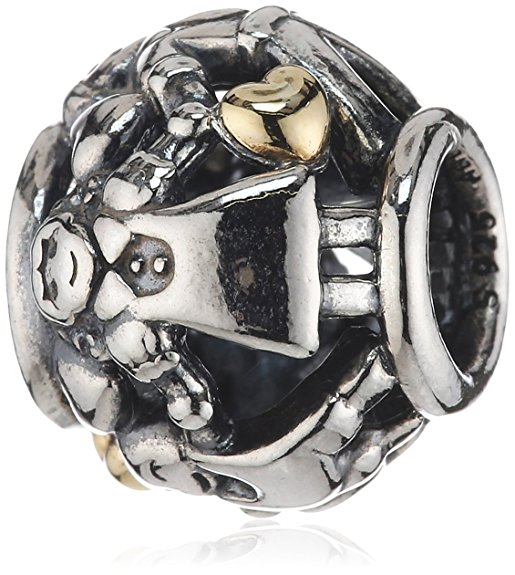 Pandora Family Forever Two Tone Hearts Charm