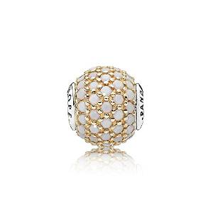 Pandora Gold White Crystals Hope Essence Charm