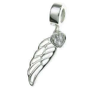 Pandora Guardian Angel Wing CZ Heart Charm