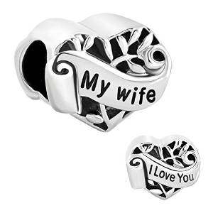 Pandora I Love You My Wife Heart Charm