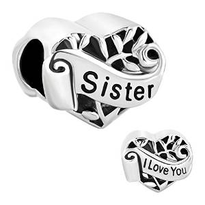 Pandora I Love You Sister Heart Charm
