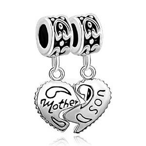Pandora Mother Son Love Heart Charm