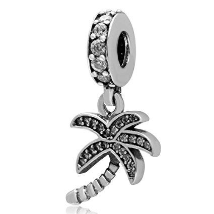 Pandora Palm Tree CZ Charm