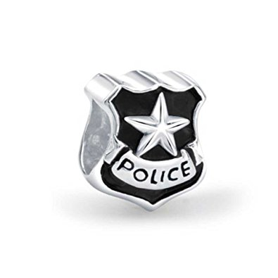 Pandora Police Officer Badge Charm
